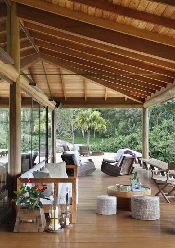 covered deck low pitched roof line decks porches. Black Bedroom Furniture Sets. Home Design Ideas