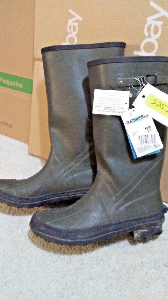 Gander Mountain Men S Wet Trek Farm Rubber Boot Size 12 Gandermountain Boots Rubber Boot Hunting Boots
