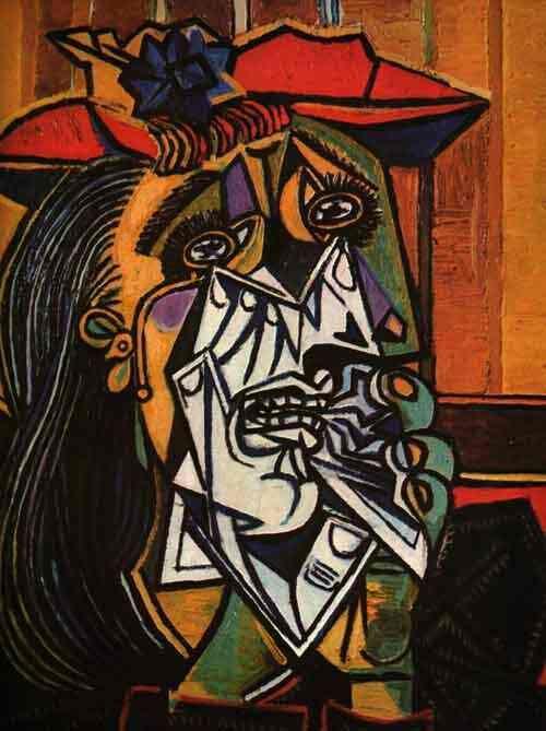 mulher chorando, by Pablo Picasso