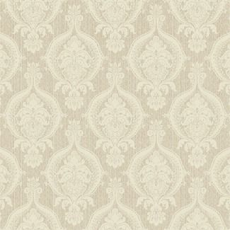 York Wallcoverings French Dressing Weave Damask Wallpaper
