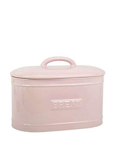 Brotkasten Brotbox Keramik Retro- Stil 'Bread' hell- rosa IB Laursen…