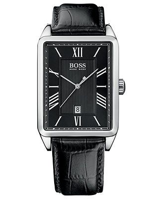 Hugo Boss Watch, Men's Black Leather Strap 33mm 1512425