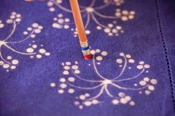 pintando com água sanitária - faça você mesmo - como disfarçar respingo de alvejante