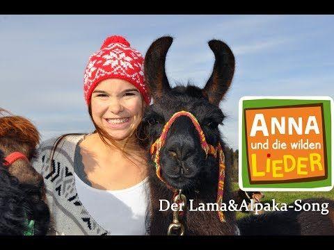 Das Alpaka Und Das Lama Kinderlied Mit Tieren Anna Und Die Wilden Lieder Youtube Wilde Tiere Tiere Alpaka