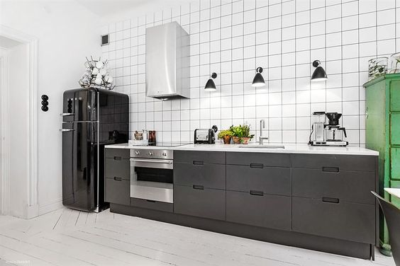 modern kitchen industrial