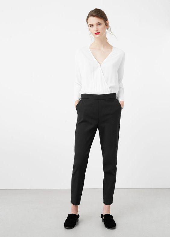 Schwarz-weißer overall | MANGO