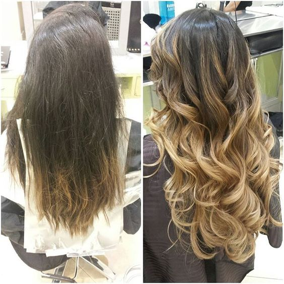 #beforeandafter #transformationthursday #balayage #hairpost #hairpainting #freehand #balayageombre #beachwaves #haircolor #colorist #loreal #beachy
