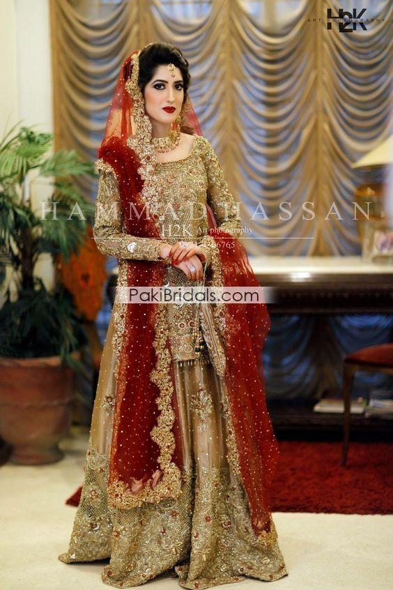 Golden Bridal Lehenga Wear 739 Red Bridal Dress Bridal Dresses Pakistan Indian Bridal Dress