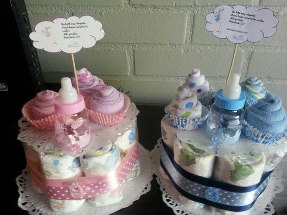 Centro de mesa para Baby shower Cremosos Pinterest Mesas