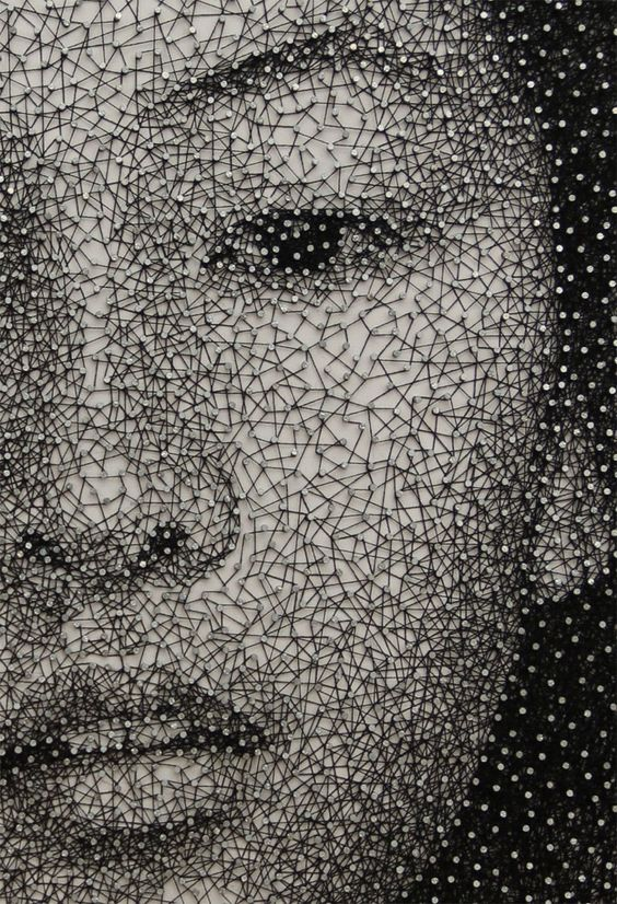 Constellation, A Single Thread Wrapped Around Thousands of Nails