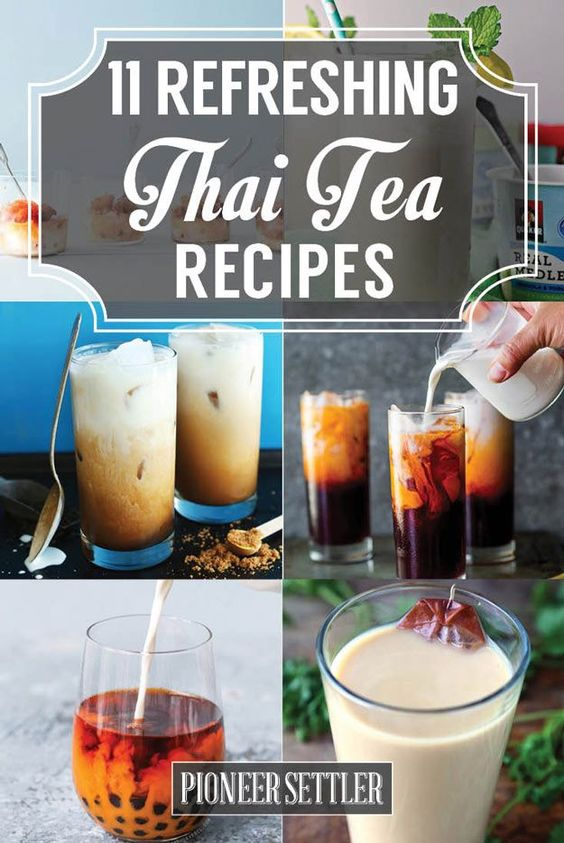 How To Make Thai Tea | Healthy and Easy DIY Drinks Perfect This Summer by Pioneer Settler at http://pioneersettler.com/thai-tea-recipes-refresh-summer/