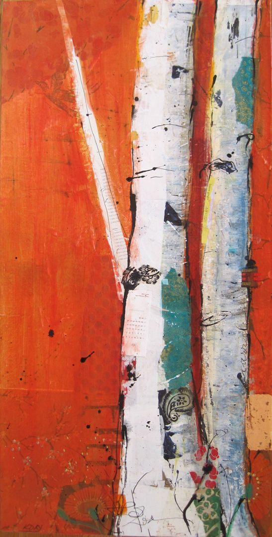 "FIRE, mixed media on canvas by Kellie Day, 18"" x 36"", ©2012:"