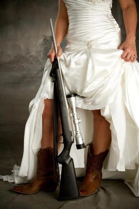 hunting/ country bridal portraits- I should of had my bridal pics like this.;(