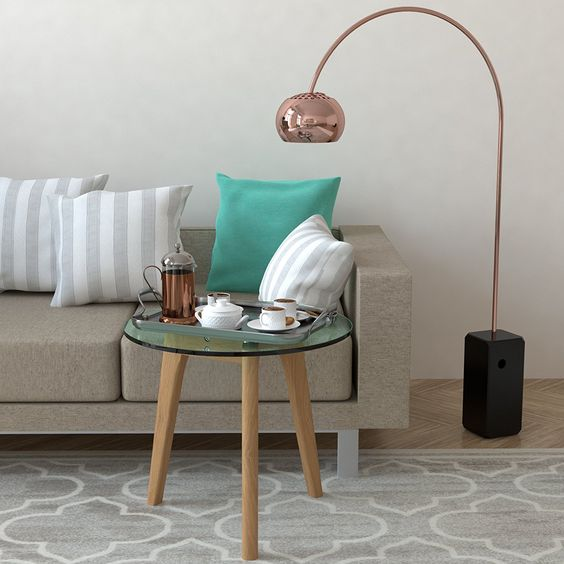 bonvivo® design-couchtisch filippa, beistelltisch im retro-look, Moderne