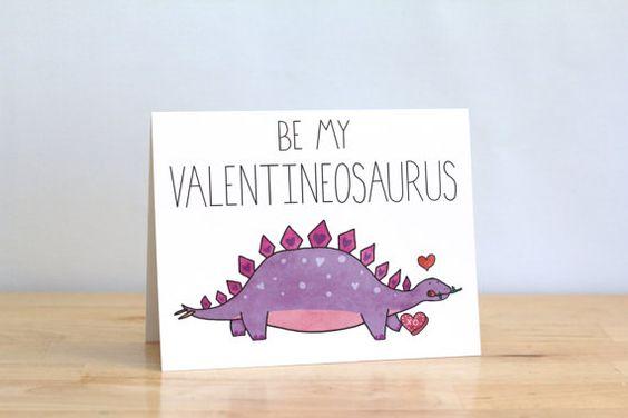 Funny Valentine. Be My Valentineosaurus. Dino Dinosaur. by ClaireLordonDesign, $4.00: