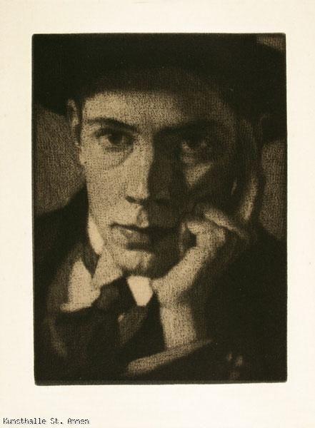 Stefan Eggeler (Austrian, 1894-1969), Self-portrait, 1915. Mezzotint
