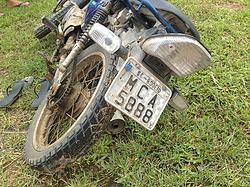 Acidente no Km 82 da Br 470 em Rodeio deixa motoqueiro gravemente ferido