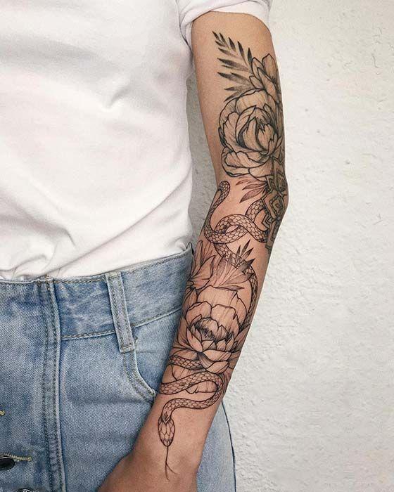 23 Bold And Badass Snake Tattoo Ideas For Women Sleeve Tattoos For Women Arm Tattoos For Women Around Arm Tattoo