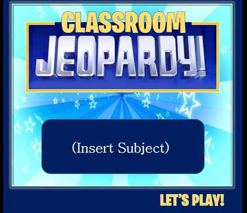 Jeopardy Template 2 Rounds Keep Score Up To 6 Teams Jeopardy