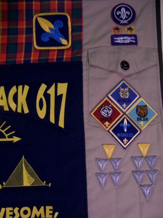 Old scout uniforms made into a quilt