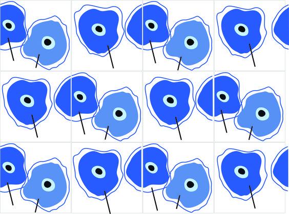 Dried flowers (tiles) 2015. Ligia de Medeiros