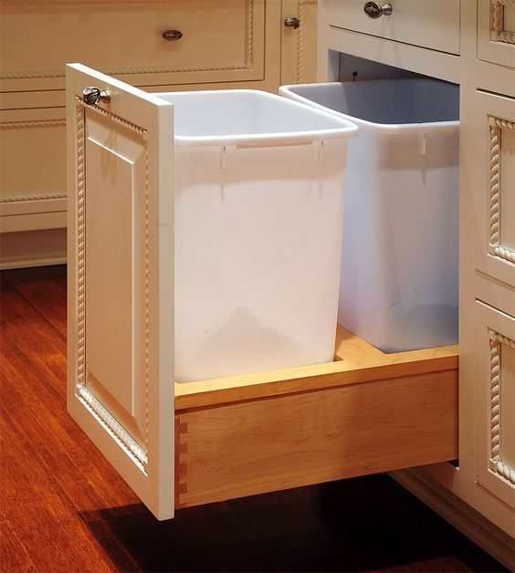 Kitchen Recycling Bins For Cabinets: Trash Bins, Pictures Of And Custom Cabinets On Pinterest