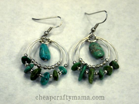 Loopy Turquoise Earrings