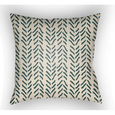 Surya Textures Polyester Throw Pillow & Reviews | Wayfair