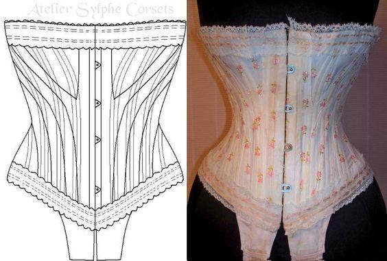 Ref: J .patronage de corset ancien marque JB311 - patron couture - Atelier Sylphe Corsets - Fait Maison
