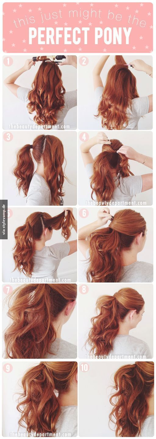 Cute ponytail with curls