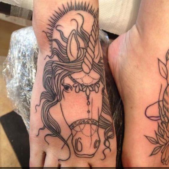 Sweet pony / unicorn tattoo