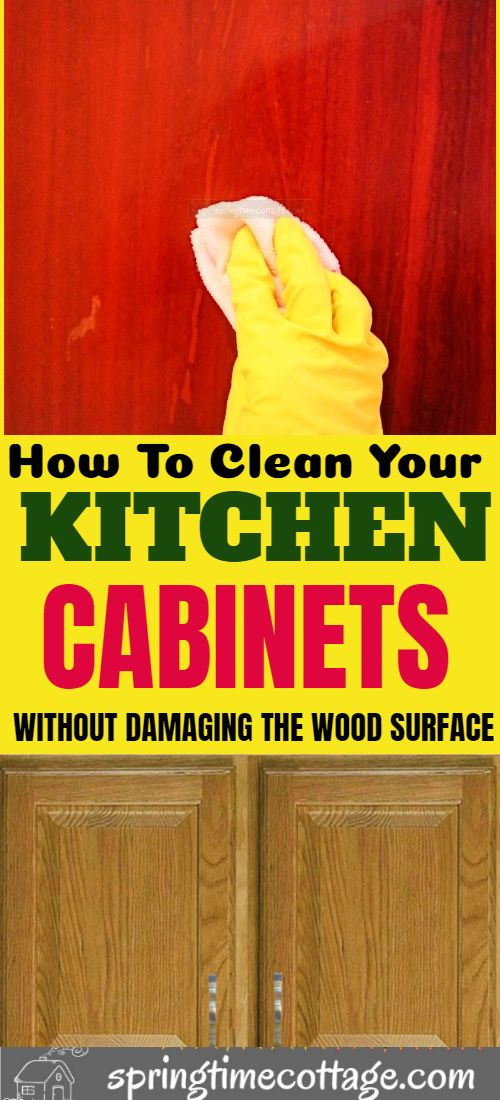 Have A Wooden Kitchen Cabinet Grease