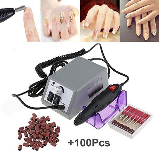 Nail Drill Jingou Nails File Drill Electric Professional Nail Manicure Polishing Machine Kits With 50pcs Sandi Nail Drill Machine Acrylic Nail Kit Pedicure Kit