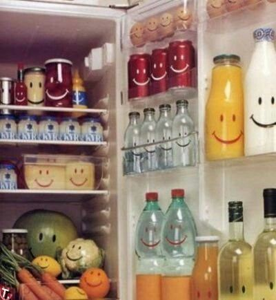 Smiley fridge