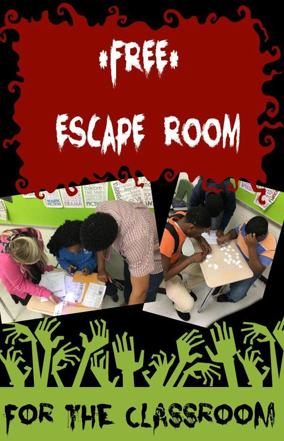 Freebie! Great for the holidays Classroom Escape Room (Review Game)
