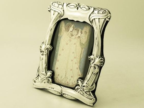 sterling silver photograph frame art nouveau style