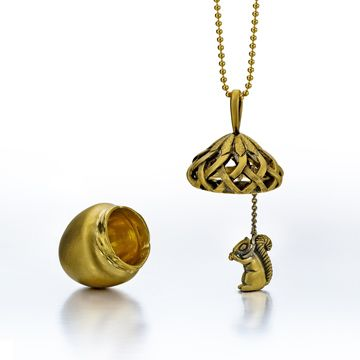 It's an Acorn Necklace with a surprise Squirrel inside! Love it!