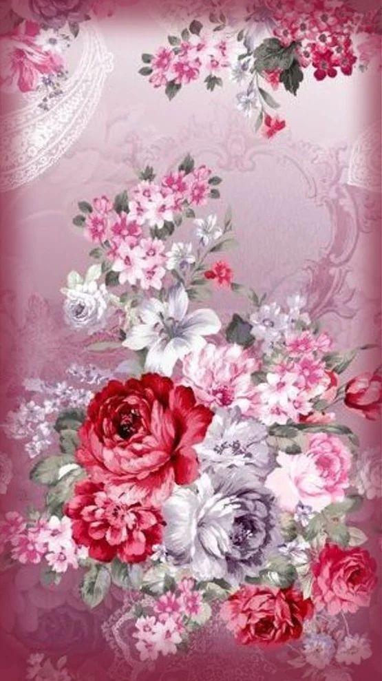 Bellas Y Coloridas Flores Movil Deco En 2020 Fondo De Pantalla De Flores Vintage Fondos De Pantalla De Primavera Empapelado Floral