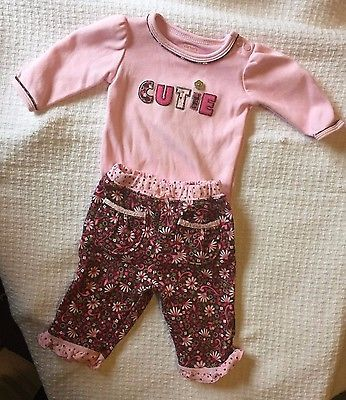 Carter's pink baby girls outfit size newborn