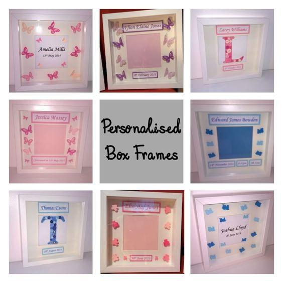 Personalised box frames
