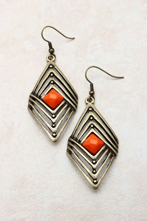 Coral Rella Earrings | Emma Stine Jewelry Set