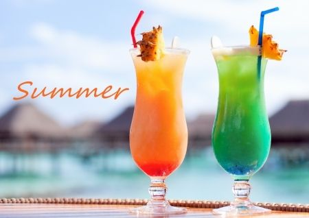 Summer Cocktails summer drinks beach fruit tropical summertime cocktails