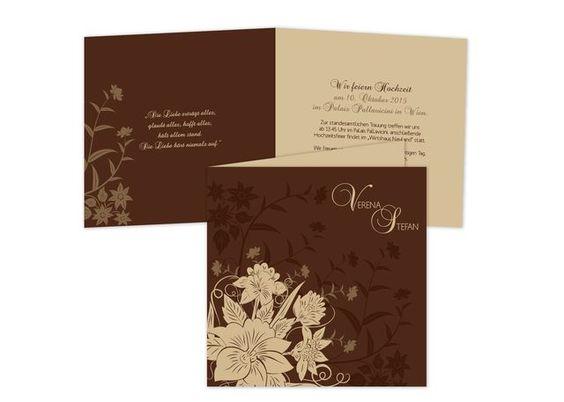 Hochzeitskarten+-+Ornaments+in+brown