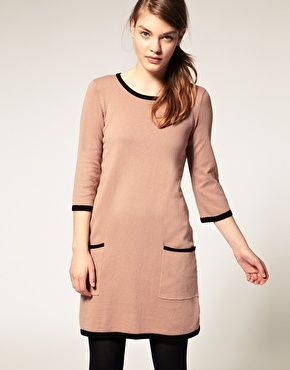 ASOS Contrast Knitted Shift Dress