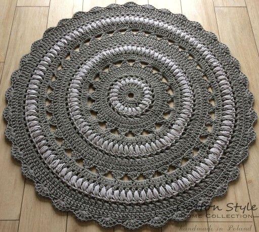 Dywan Ze Sznurka Dziergany 150cm Styl Skandynawski 6702831916 Oficjalne Archiwum Allegro Crochet Basket Rugs Crochet