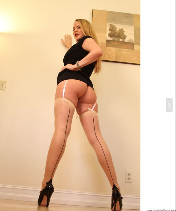 Back Seamed Stockings in Black Dress...come visit me at www.Naughtyathome.com for all my naughty stockings pictures!! xxx Desirae