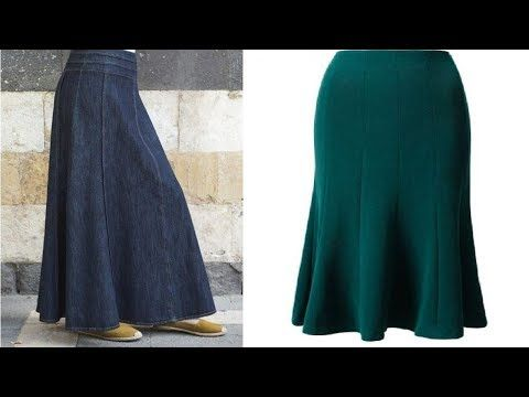 تفصيل جيبة او تنورة او صاية باكثر من ست قطع Eight Panel Skirt الدرس 39 Youtube Couture Sewing Paneled Skirt Fashion
