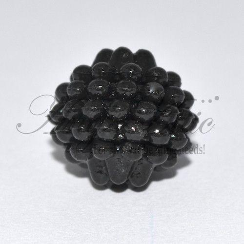 20 x 15mm Black Berry Beads