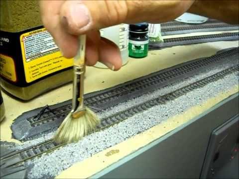 Tutorial: How to Ballast HO Track - YouTube