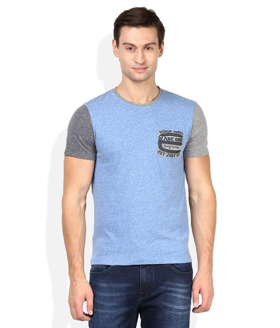 Being Human Blue Round Neck Basics T-Shirt - http://weddingcollections.co.in/product/human-blue-round-neck-basics-t-shirt/